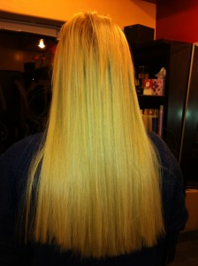 Hair with  Color Correction and New Hair Extensions